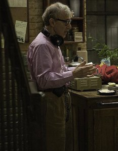 Woody Allen no set de filmagem