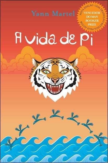 Alegre capa brasileira de A Vida de Pi.
