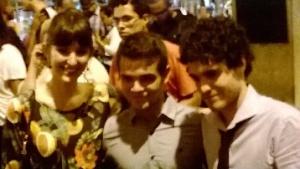Hoje eu quero voltar sozinho- pré estreia 04abr14 Odeon - os atores Tess Amorim Guilherme lobo e Fabio Audi.